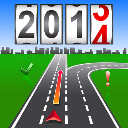 2014 New Year counter Stock Vector - 17986689