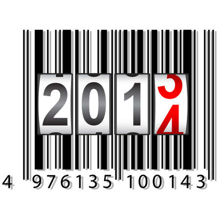 2014 New Year counter, barcode Stock Vector - 17986685
