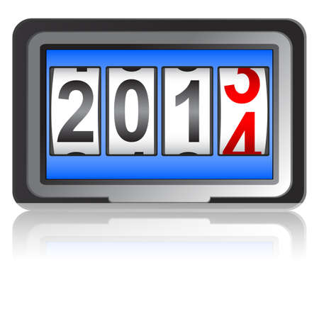 2014 New Year counter Stock Vector - 17986693