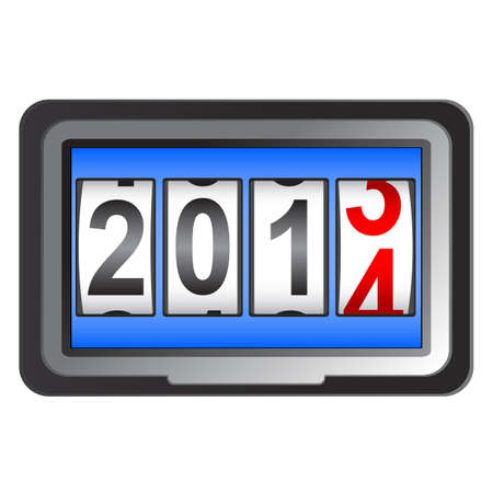 2014 New Year counter Stock Vector - 17986682