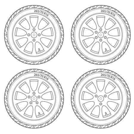 Car Wheel illustration Stock Vector - 17986979