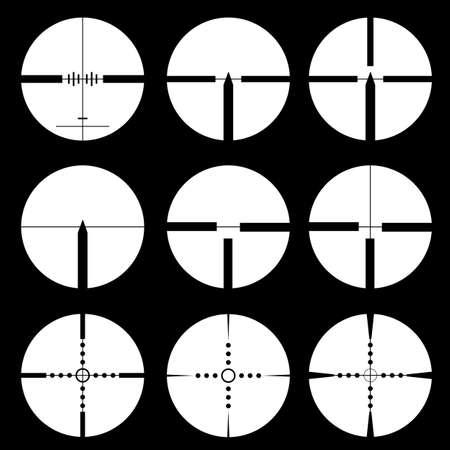 Cross hair and target set illustration Imagens - 17986680
