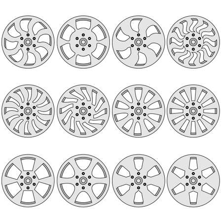 alloy: Car  alloy wheels illustration