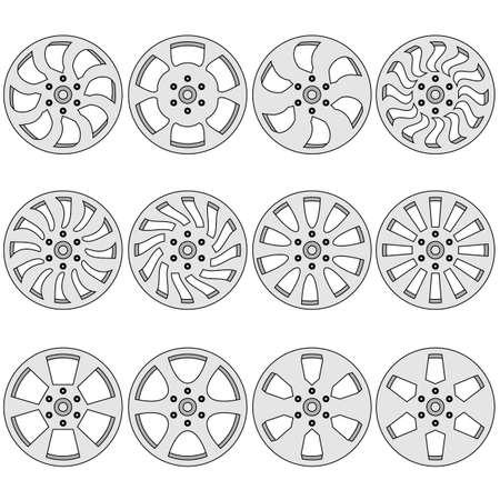 Car  alloy wheels illustration Stock Vector - 17986997
