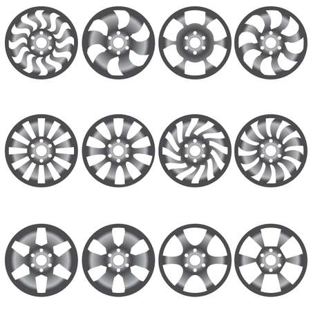 Car  alloy wheels illustration Vector