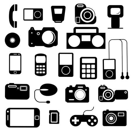 audio electronics: Icon  with  electronic gadgets. Vector illustration.