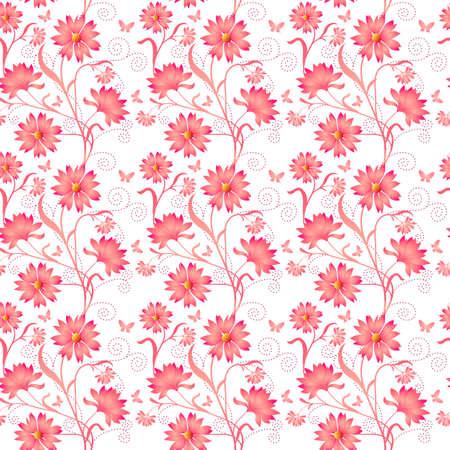 Elegance Seamless color pattern on background, vector illustration Illustration