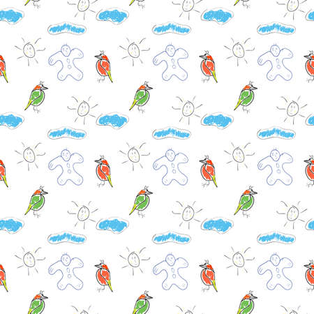 seamless wallpaper children Vector