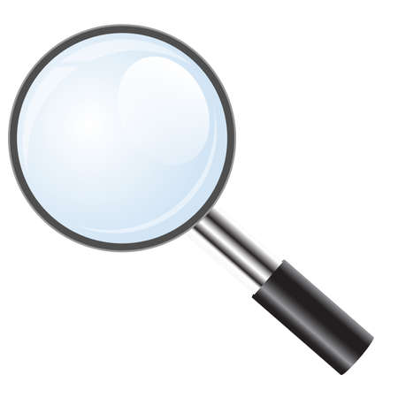 Magnifying glass icon, search icon Vector