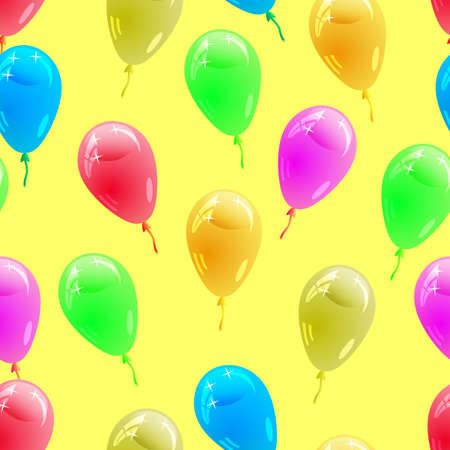balloon background: Background with glossy multicolored balloons. . Seamless wallpaper.