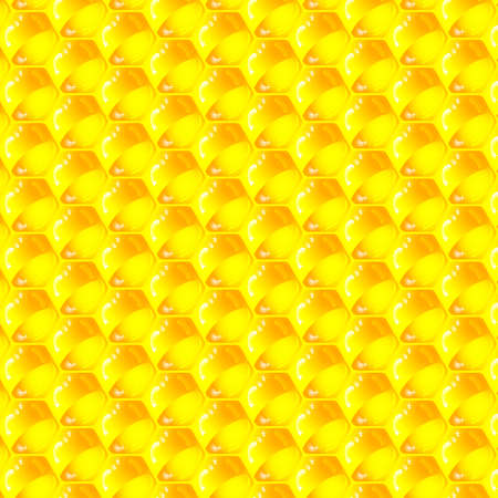Golden  cells of a honeycomb pattern Stock Vector - 18998118