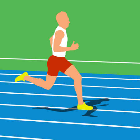Running silhouettes. Vector illustration. Stock Vector - 22167860