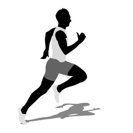 Running silhouettes illustration. Stock Vector - 22163172