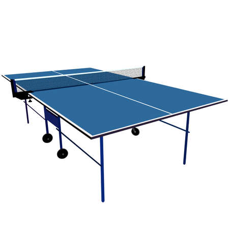 table tennis: blue table tennis. Vector illustration.