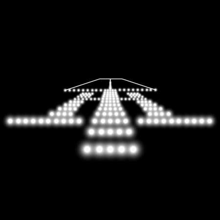 airport runway: Landing lights. Vector illustration.