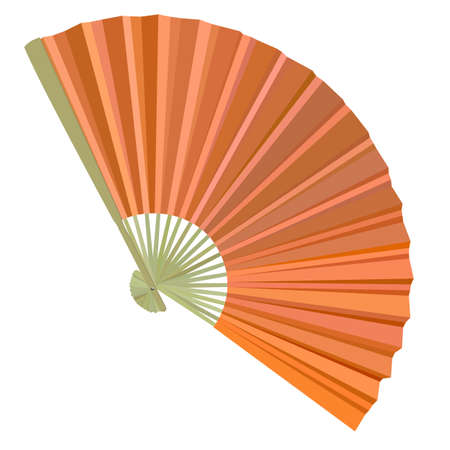 traditional Folding Fans. Vector illustration. Vector