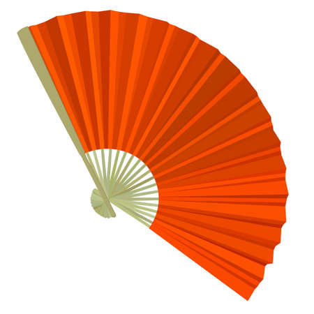 open fan: traditional Folding Fans. Vector illustration.