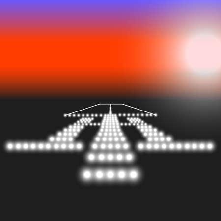 Landing lights. Vector illustration. Stock Vector - 22561893
