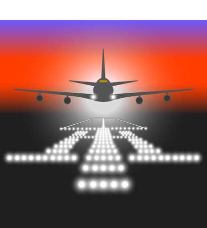 Landing lights. Vector illustration. Stock Vector - 22561930