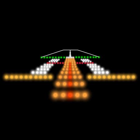 着陸灯。ベクトルの図。