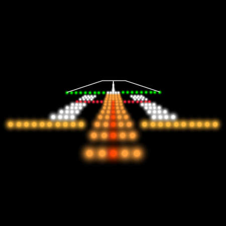 Landing lights. Vector illustration. Stock fotó - 22561927