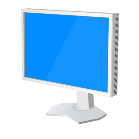 lcd tv  monitor on white background. Vector illustration Stock Vector - 22886721