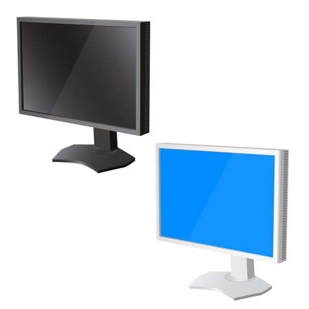 lcd tv  monitor on white background. Vector illustration Stock Vector - 22886723