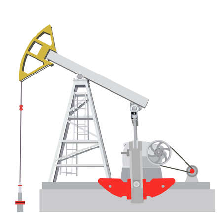 Oil pump jack. Oil industry equipment. Vector illustration. Vector
