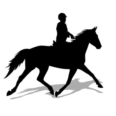 horse silhouette: silhouette of horse and jockey