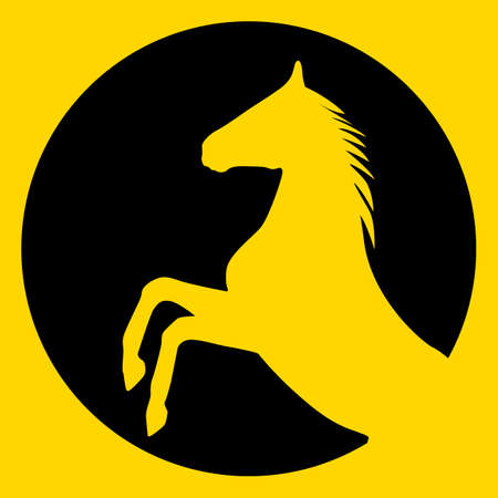rearing: rearing up horse  silhouette