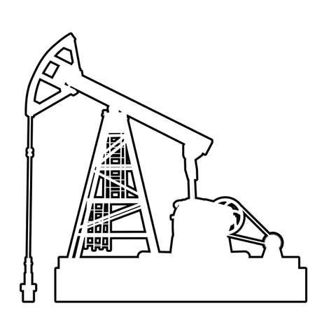 Oil pumpjack. Oil industry equipment. Vector Illustration