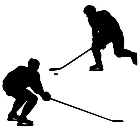 Ice hockey players. Vector illustration Vector