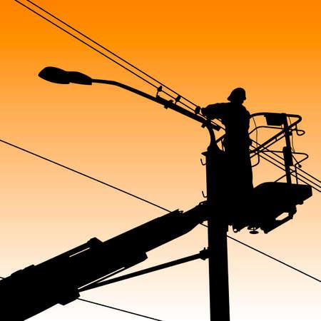 electrician worker Stock Vector - 24297074