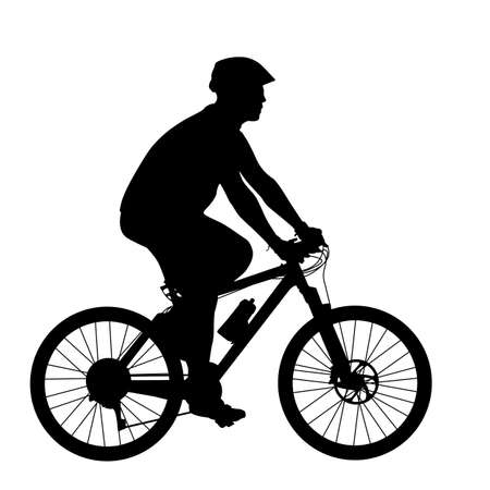 Silhouette of a cyclist male.  vector illustration. Stock fotó - 23981651