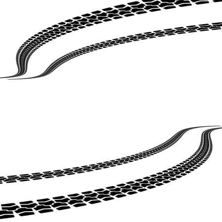 tire prints, vector illustration Stock Vector - 23970920