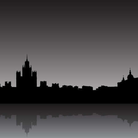 Moscow city silhouette skyline vector illustration Vector