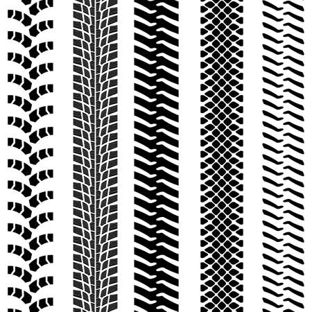 Set of detailed tire prints, vector illustration Stock Vector - 24294541
