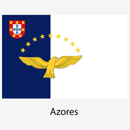azores:  Flags of world sovereign states. Vector illustration.  Exact colors. Easy changes.
