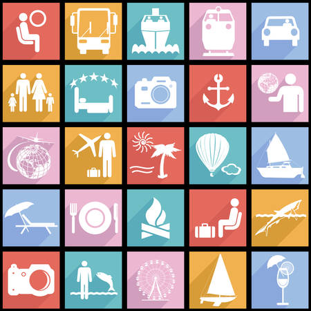 Travel symbols illustration. Vector