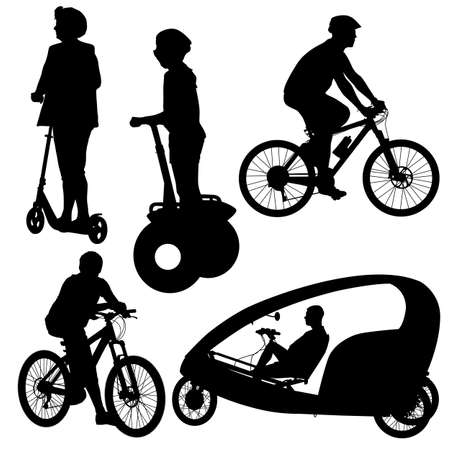 silhouette of a cyclist illustration.