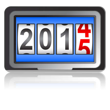 2015 New Year counter, vector illustration.