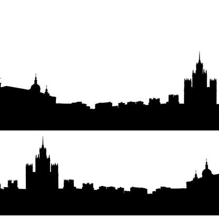 moscow city:  Moscow city silhouette skyline vector illustration Illustration