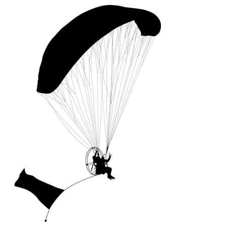 airplay: Paragliding silhouette Illustration