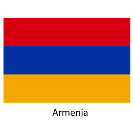 exact: Flag  of the country  armenia. Vector illustration.  Exact colors.  Stock Photo