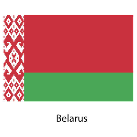exact: Flag  of the country belarus . Vector illustration.  Exact colors.