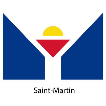 martin: Flag  of the country  saint martin. Vector illustration.  Exact colors.
