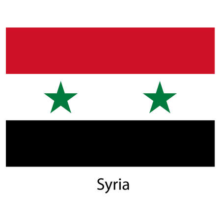 exact: Flag  of the country  syria. Vector illustration.  Exact colors.