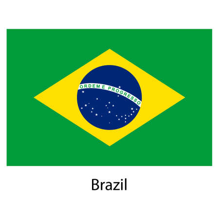 exact: Flag  of the country  brazil. Vector illustration.  Exact colors.