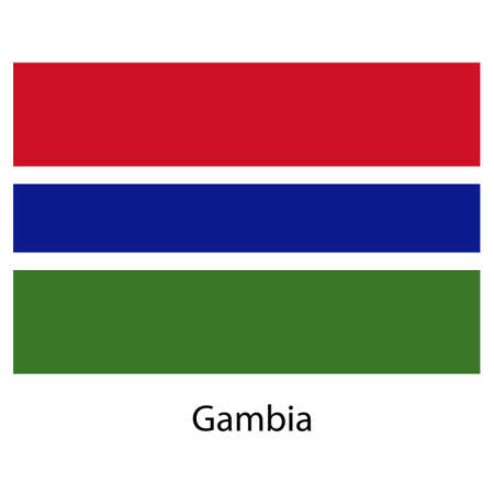 Flag  of the country  gambia. Vector illustration.  Exact colors.  Stock Photo