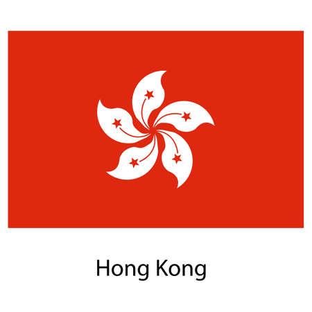 exact: Flag  of the country hong kong. Vector illustration.  Exact colors.  Stock Photo